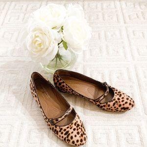 Donald J Pliner Henna Leopard Mary Jane Flats